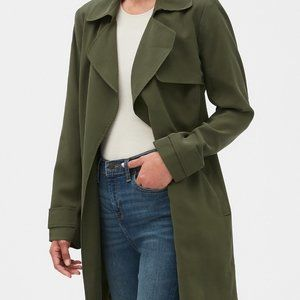 Banana Republic green trench coat NEVER WORN!